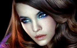 预览壁纸 时尚女孩,化妆,脸,眼睛,发型