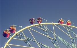 Preview wallpaper Ferris wheels, seats, sky