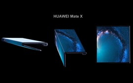 Preview wallpaper HUAWEI Mate X 5G Smartphone, can bend and stretch OLED display