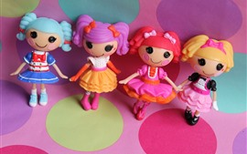 Preview wallpaper Lalaloopsy, colorful anime toy girls