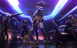 League of Legends, purple hair girl, cap