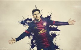 Preview wallpaper Lionel Messi 02