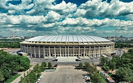 Preview wallpaper Moscow, Luzhniki, stadium, city, Russia