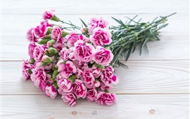 Preview wallpaper Pink carnation flowers, bouquet