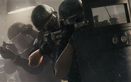 Preview wallpaper Rainbow Six Siege, soldiers, weapon
