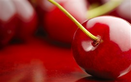 Preview wallpaper Red cherry macro photography, fruit