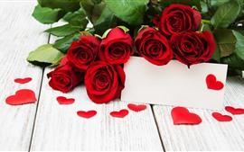 Красные розы и любовь сердца, романтика