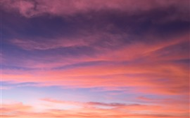 Preview wallpaper Red sky, clouds, dusk