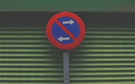 Preview wallpaper Road sign, left and right