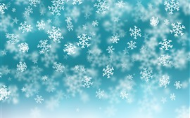 Preview wallpaper Snowflakes, stars, blue background