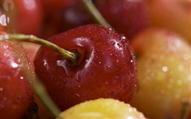 Preview wallpaper Some cherries, water droplets