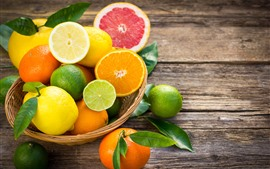 Preview wallpaper Some fruit, citrus, oranges, lime, lemon, grapefruit