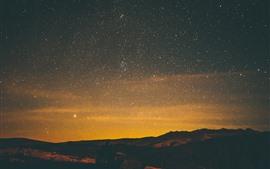 Estrelado, noite, estrelas, céu