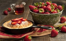 Preview wallpaper Strawberries, pie, food