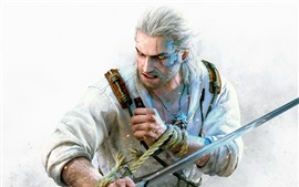 Preview wallpaper The Witcher 3: Wild Hunt, sword