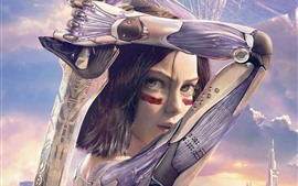 Preview wallpaper Alita: Battle Angel, girl, sword