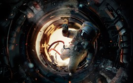 Preview wallpaper Astronaut, space station
