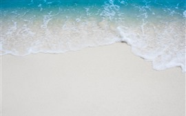 Preview wallpaper Beach, sea, foam, sands