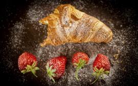 Pão e morango, alimento