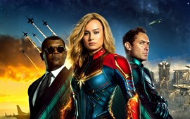 Preview wallpaper Captain Marvel, DC comics movie