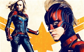 Preview wallpaper Captain Marvel, girl, superhero