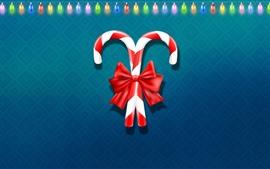 Vorschau des Hintergrundbilder Weihnachtssüßigkeit, bunte Lichterkette, Vektordesign