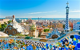 City, Barcelona, buildings, tower, Spain