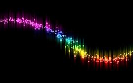 Espectro colorido, fundo preto, retrato abstrato