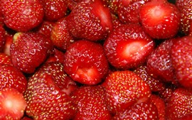 Preview wallpaper Delicious fruit, ripe strawberries