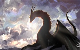 Preview wallpaper Fantasy art picture, dragon, wings