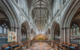 Preview wallpaper Lichfield Cathedral, interior, England