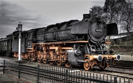Preview wallpaper Old train, steam train