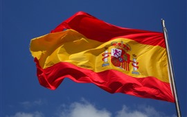 Preview wallpaper Spain flag, wind