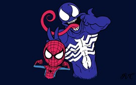 Preview wallpaper Spider-Man and Venom, DC comics