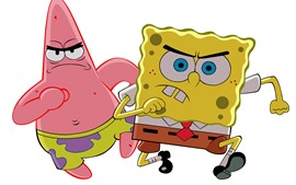 Preview wallpaper Spongebob, Patrick, classic anime