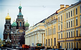 St. Petersburg, buildings, city, Moscow, Russia
