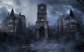 Ladrão, jogo PS4, castelo, nevoeiro