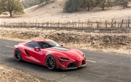 Toyota FT-1 Supercar rojo