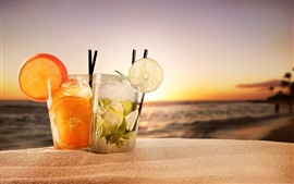 Preview wallpaper Two cups cocktails, sands, summer