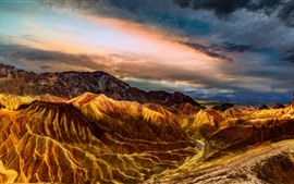 USA, Death Valley, mountains, clouds, nature landscape