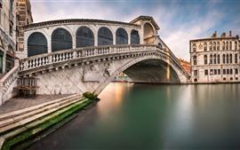 壁紙のプレビュー ヴェネツィア、イタリア、橋、川、都市