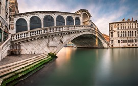 Veneza, Italy, ponte, Rio, cidade