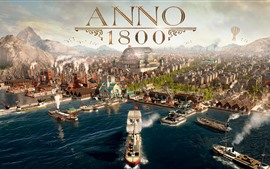 Preview wallpaper Anno 1800, video game