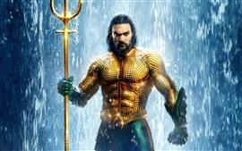 Aquaman, Arthur, escamas doradas, cascada