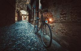 미리보기 배경 화면 자전거, 거리, 도시