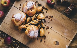 Preview wallpaper Bread, apples, food