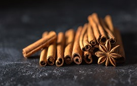 Preview wallpaper Cinnamon, spices, macro photography