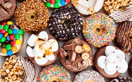 Preview wallpaper Delicious dessert, donuts, colorful