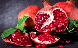 Preview wallpaper Delicious fruit, pomegranate