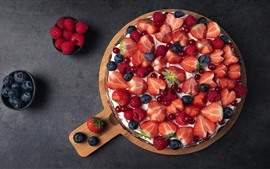Preview wallpaper Delicious pie, berries, strawberry, blueberry